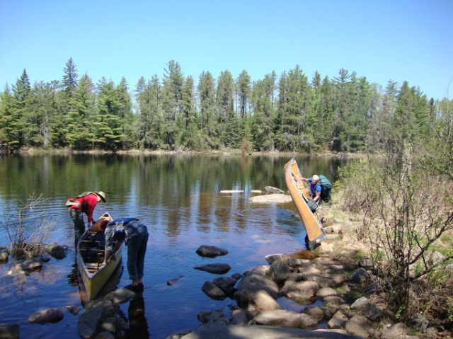 Putting in at lake One to go home BWCA 2014