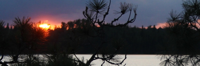 BWCA Sunset  gun lake