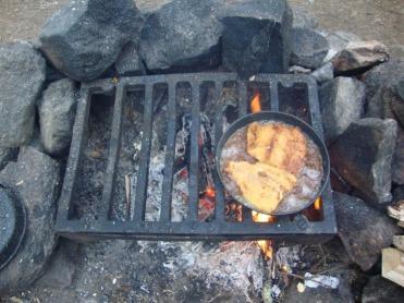 Huge fillets frying