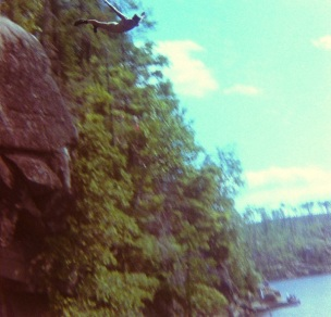 Cliff Diving Rocks BWCA